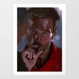 "Arnold "" Dutch"" Schwarzenegger Art Print"