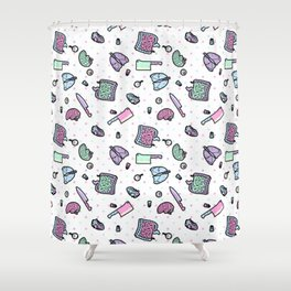 Sweet Yandere (White) Shower Curtain