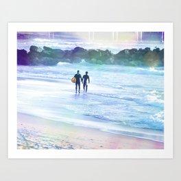 SURFER BOYS Art Print