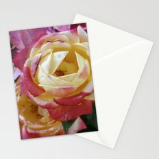 Pink and Yellow Roses Stationery Cards