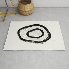 The Rings of Suminagashi (West Meets East Series) Rug