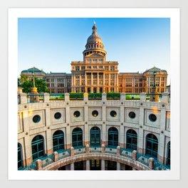 Austin Texas USA State Capitol - Color Edition - 1x1 Art Print
