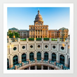 Austin Texas USA State Capitol - Color Edition - 1x1 Art Print