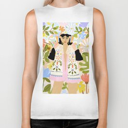 I Want To See The Beauty In The World Biker Tank