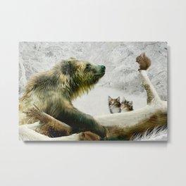Bear, Squirrel and Kitten Metal Print