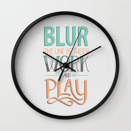 Work and Play Wall Clock