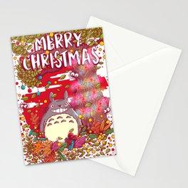 My neighbortotoro christmas tree Stationery Cards