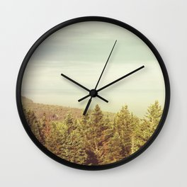 Forest Lookout Wall Clock