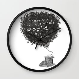 A Whole World in a Book Wall Clock