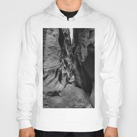 utah Hoodies featuring Slot Canyon, Utah by Katya laRoche