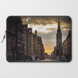 Royal Mile Sunrise in Edinburgh, Scotland Laptop Sleeve