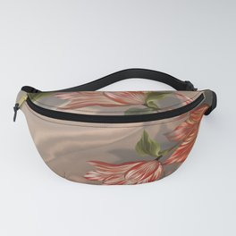 """Coral flowers on white silk"" (Air Spring) Fanny Pack"