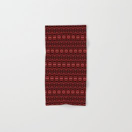 Dividers 07 in Red over Black Hand & Bath Towel