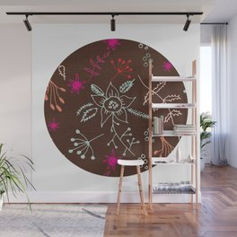 Winter Floral Wall Mural