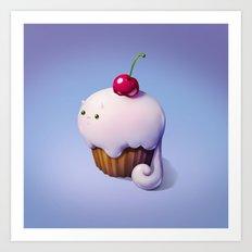 Art Snacks: The Cupcake Cat Art Print