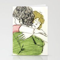 les mis Stationery Cards featuring ExR Hug les mis by Pruoviare