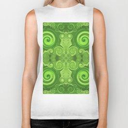 Pattern 37 - Green swirls Biker Tank