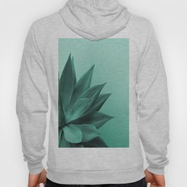 Big Agave Leaves - turquoise Cactus Hoody