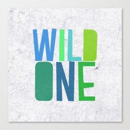 Wild One Green&Blue Canvas Print