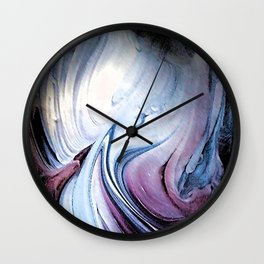 Tint Blot - Blue Stalagmites Wall Clock