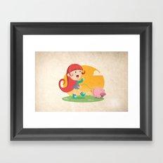 Lilly and Piggy Framed Art Print