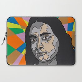 """YOGANANDA"" Montana Gold Spray Paint and acrylic on birch panel 20"" x 24"" x 2""  Laptop Sleeve"