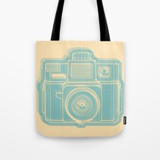 I Still Shoot Film Holga Logo - Reversed Turquoise/Tan Tote Bag