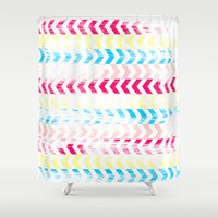 arrow Shower Curtains featuring Arrow by Louise Machado