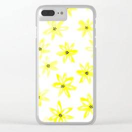 Yellow daisy flowers Clear iPhone Case