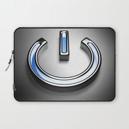 Start symbol for technology with blue light - 3D rendering Laptop Sleeve