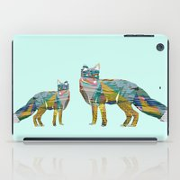 foxes iPad Cases featuring Foxes by nessieness