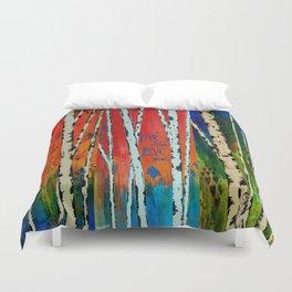 Birch Tree Stitch Duvet Cover