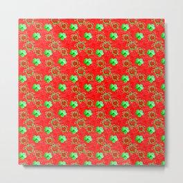 Holiday Honu Turtles Metal Print