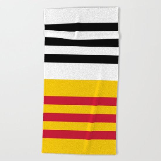 Flag of Loon op Zand Beach Towel