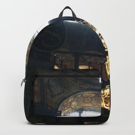 Hagia Sophia Decorated Dome and Ottoman Chandeliers Backpack