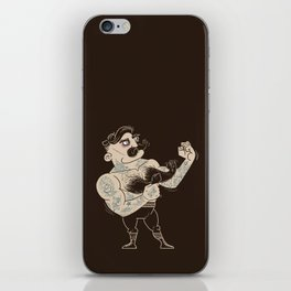 Overly manly man iPhone Skin