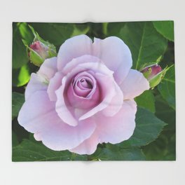 Bloom and Buds Paling to Purple Throw Blanket