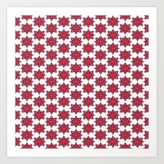 Flowery Red Art Print
