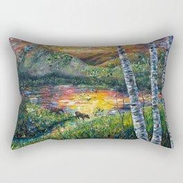 Sleeping Meadow (palette knife) Rectangular Pillow