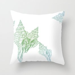 Shells Coloured Throw Pillow