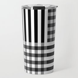 monochrome pattern  Travel Mug