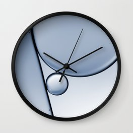 oil and water abstract I Wall Clock