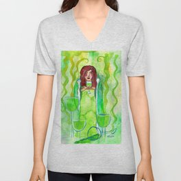 Sweet Poison - Bright Green Unisex V-Neck