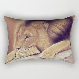 Lion lying Rectangular Pillow