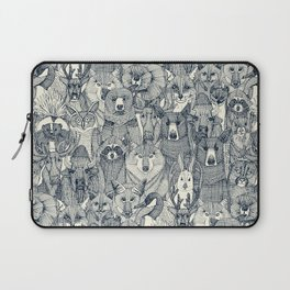 canadian animals indigo pearl Laptop Sleeve