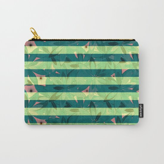 Vegetation-stripes Carry-All Pouch