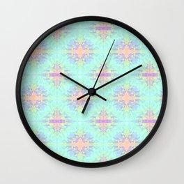 Rainbow Triangles Pattern Wall Clock