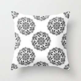 FIRST DAYS OF SPRING GRAPHIC FLOWER PATTERN Throw Pillow