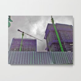 Construction Cocoons Metal Print