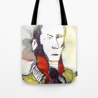 lawyer Tote Bags featuring the lawyer man by seb mcnulty